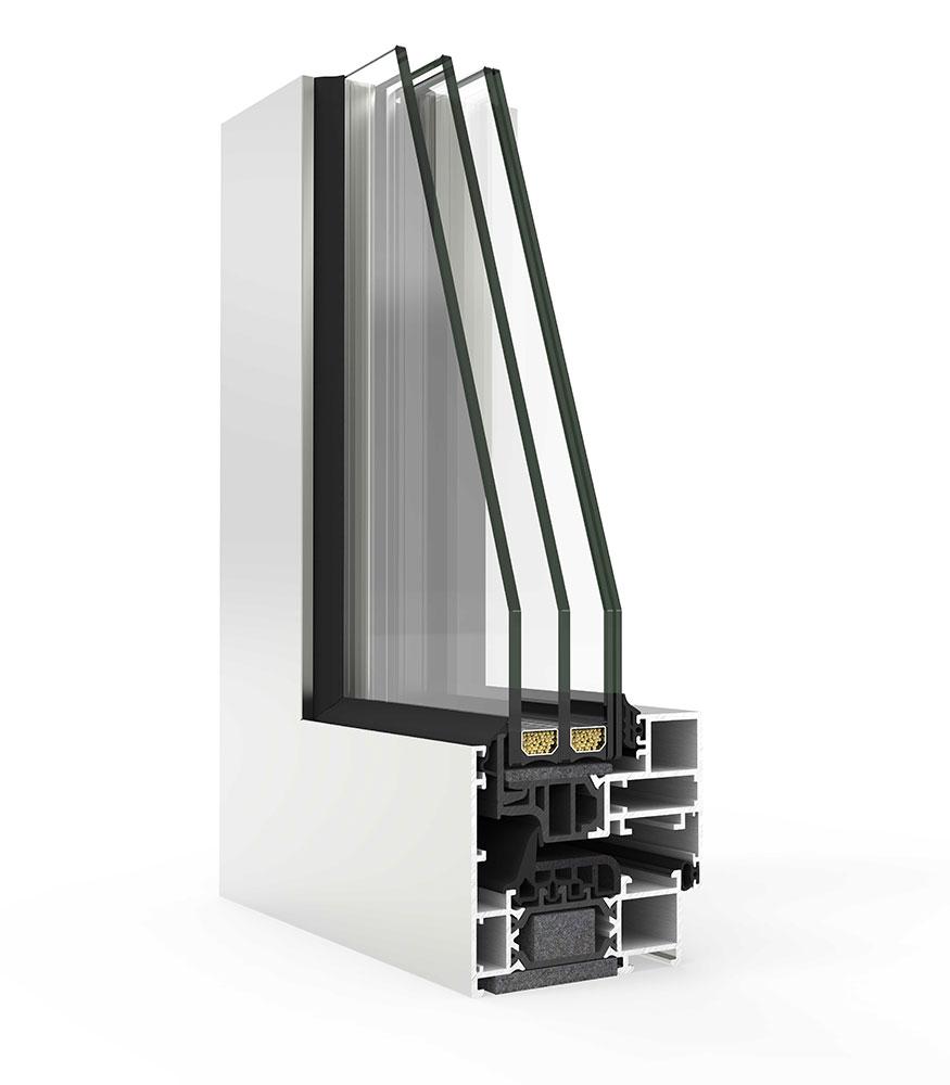 hidden sash aluminium windows
