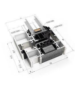 aluminium COR70-Hidden-Sash