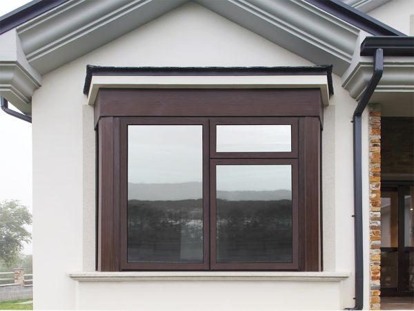 wood effect aluminium window
