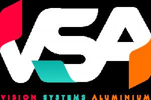 Vision Systems Aluminium logo white